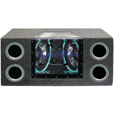 "Pyramid Car Audio BNPS102 Dual Bandpass System with Neon Accent Lighting (10"", 1,000 Watts) - Peazz.com"