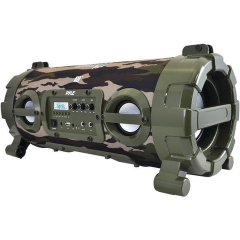 Pyle PBMSPG120CM Portable Bluetooth Boom Box Speaker (Camo) - Peazz.com