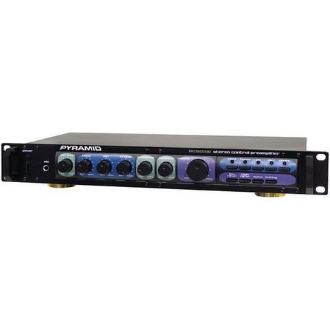 Pyramid Car Audio PR2500 Professional Home Studio Preamp - Peazz.com