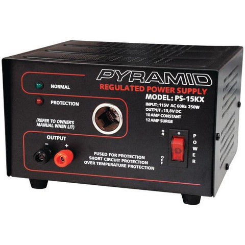 Pyramid Car Audio PS15KX 10-Amp 13.8-Volt Power Supply with Car-Charger Adapter - Peazz.com