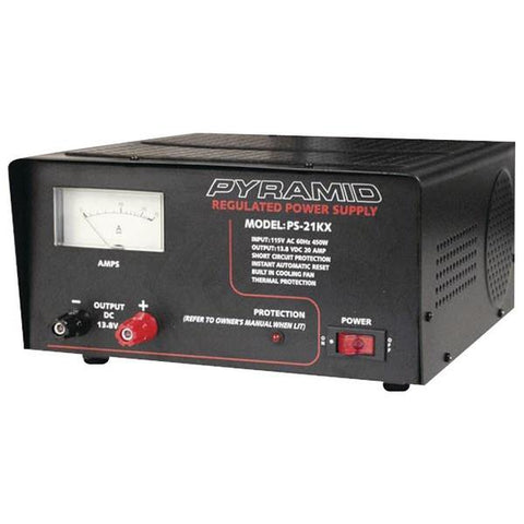 Pyramid Car Audio PS21KX 18-Amp Power Supply with Built-in Cooling Fan - Peazz.com