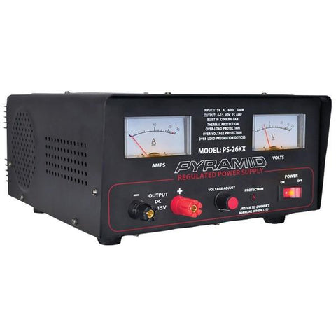 Pyramid Car Audio PS26KX 22-Amp Power Supply with Built-in Cooling Fan - Peazz.com