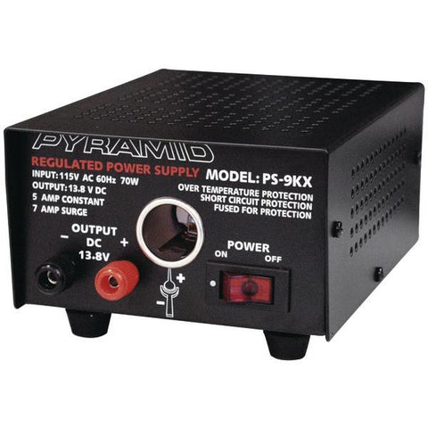 Pyramid Car Audio PS9KX Power Supply (70 Watts Input, 5 Amps Constant) - Peazz.com