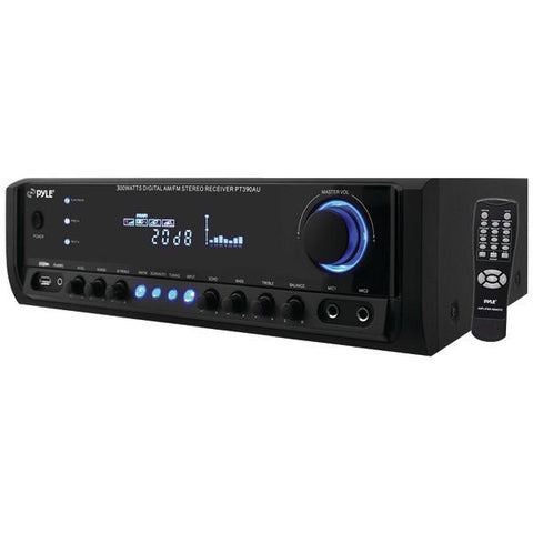 Pyle Home PT390AU 300-Watt Digital Home Stereo Receiver System - Peazz.com