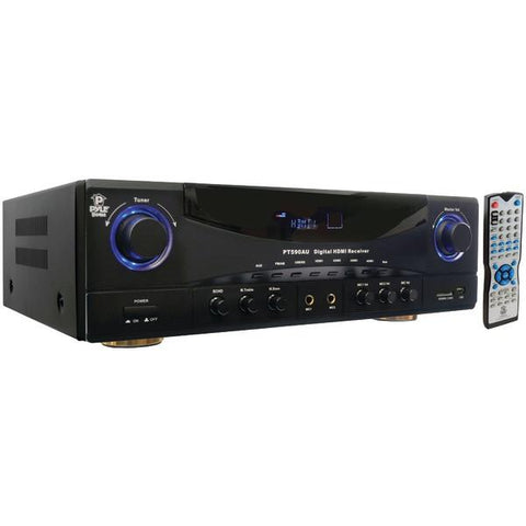 Pyle Home PT590AU 5.1-Channel, 350-Watt Amp Receiver with 3D Pass-Through - Peazz.com