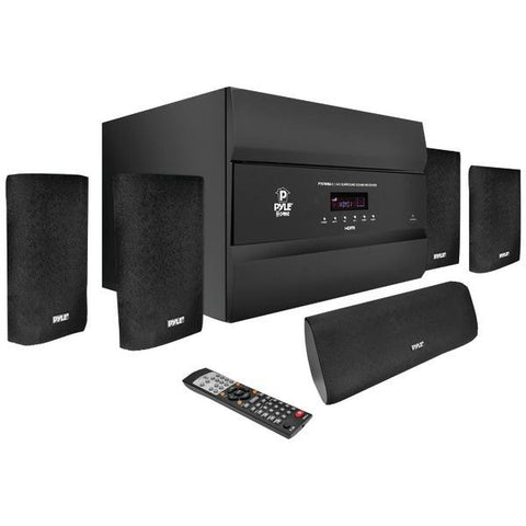 Pyle PT678HBA 5.1-Channel, 400-Watt HDMI Home Theater System with Bluetooth - Peazz.com