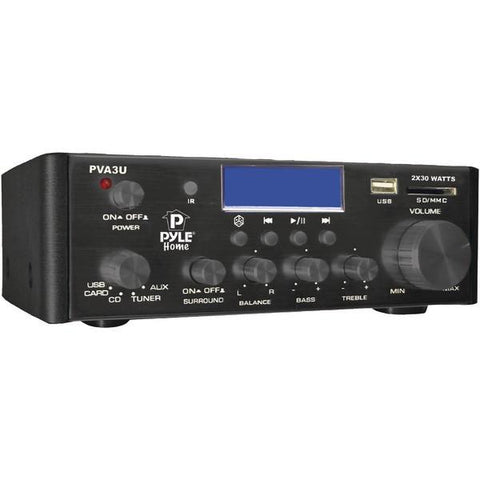 Pyle Home PVA3U 60-Watt Hi-Fi Mini Amp with USB/SD Card Player - Peazz.com