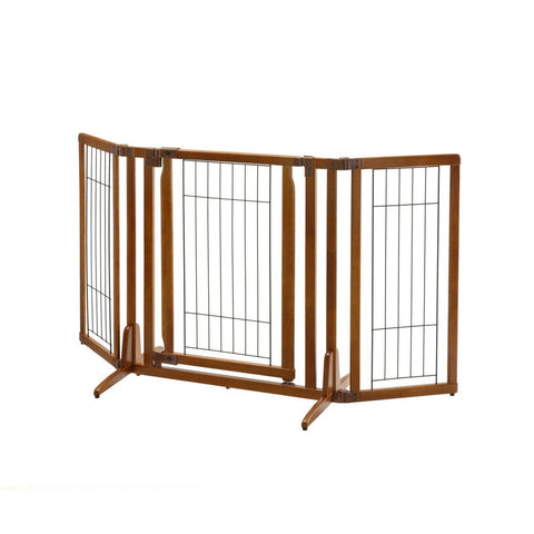 Richell R94193 Premium Plus Freestanding Pet Gate with Door