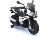 Rastar RA-87700-White BMW 12v Motorcycle White