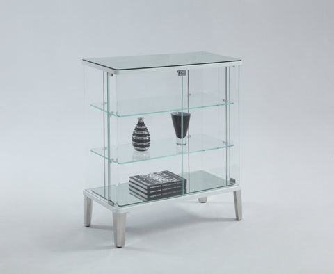 Chintaly RILEY-BUF Clear Glass Buffet Curio