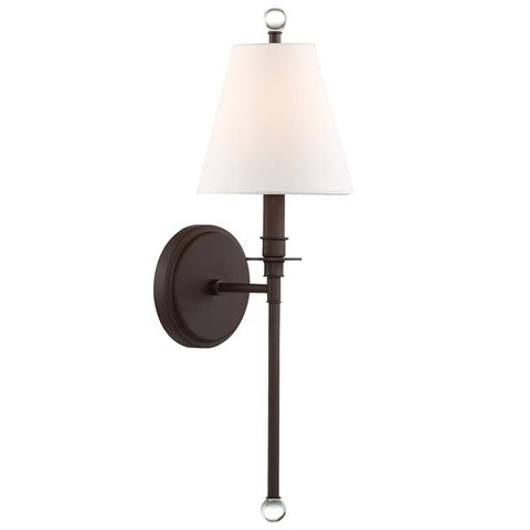 Crystorama Riverdale 1 Light Dark Bronze Sconce