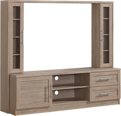 "Techni Mobili RTA-1820-SND Entertainment Center with Storage for TV's up to 50"". Color: Sand - Peazz.com - 1"