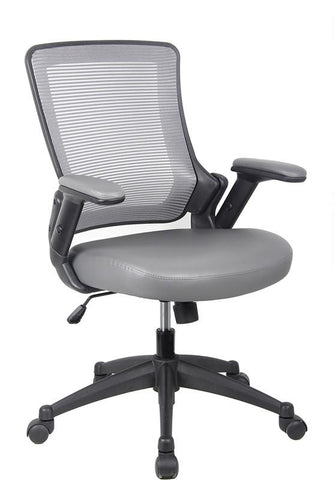 Techni Mobili RTA-8030-GRY Mid-Back Mesh Task Office Chair with Height Adjustable Arms. Color: Gray - Peazz.com - 1