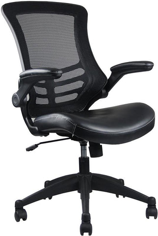 Techni Mobili RTA-8070-BK Stylish Mid-Back Mesh Office Chair With Adjustable Arms. Color: Black - Peazz.com - 1