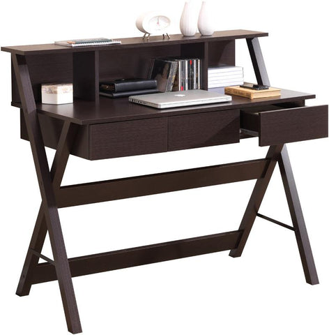 Techni Mobili RTA-8400-WN Writing Desk with Storage. Color: Wenge - Peazz.com - 1