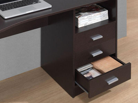 Techni Mobili RTA-8404-WN Classic Computer Desk with Multiple Drawers. Color: Wenge - Peazz.com - 1
