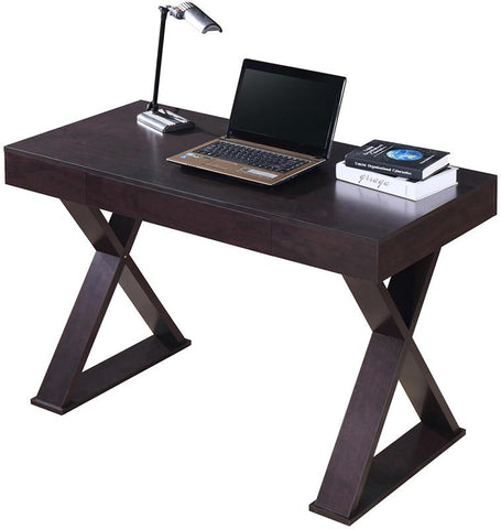 Techni Mobili RTA-8406-ES Trendy Writing Desk with Drawer. Color: Espresso - Peazz.com - 1