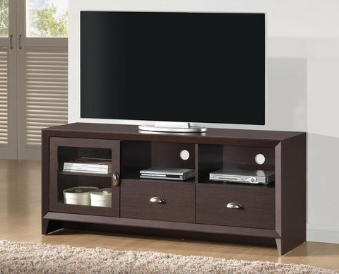 "Techni Mobili RTA-8807-WN Modern TV Stand with Stotage for TVs Up To 65"". Color: Wengue - Peazz.com - 1"