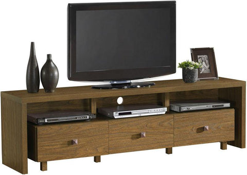 "Techni Mobili RTA-8895-WAL Elegant TV Stand For TV's Up To 70"" with Storage. Color: Walnut - Peazz.com"