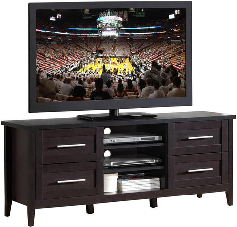 "Techni Mobili RTA-8898-ES Elegant TV Stand with Storage For TVs Up To 70"". Color: Espresso - Peazz.com - 1"