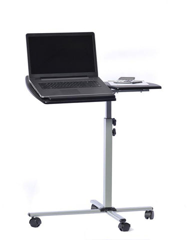 Techni Mobili RTA-B003-GPH06 Rolling Adjustable Laptop Cart. Color: Graphite - Peazz.com - 1