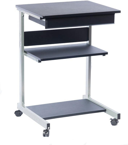 Techni Mobili RTA-B018-GPH06 Rolling Laptop Cart with Storage. Color: Graphite - Peazz.com - 1