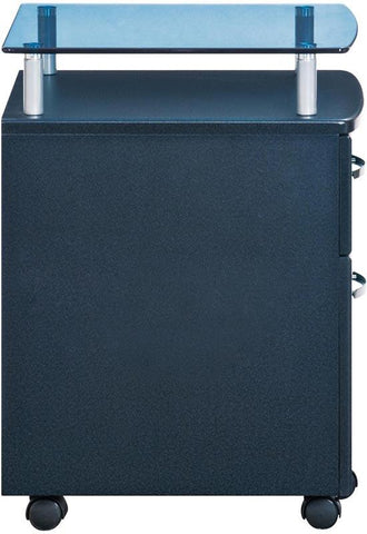 Techni Mobili RTA-S06-GPH06 Rolling File Cabinet With Glass Top. Color: Graphite - Peazz.com