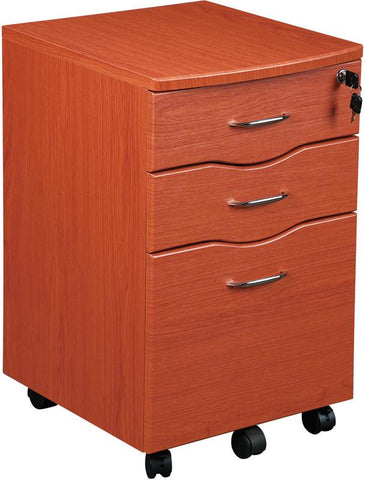 Techni Mobili RTA-S07-DH33 Rolling Storage and File Cabinet. Color: Dark Honey - Peazz.com - 1