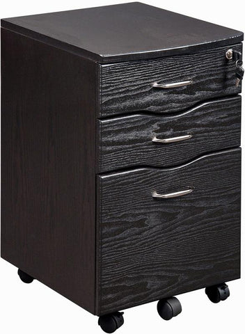Techni Mobili RTA-S07-ES18 Rolling storage and File Cabinet. Color: Espresso - Peazz.com - 1