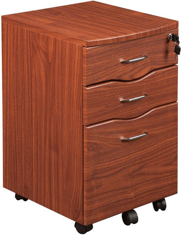Techni Mobili RTA-S07-M615 Rolling storage and File Cabinet. Color: Mahogany - Peazz.com - 1
