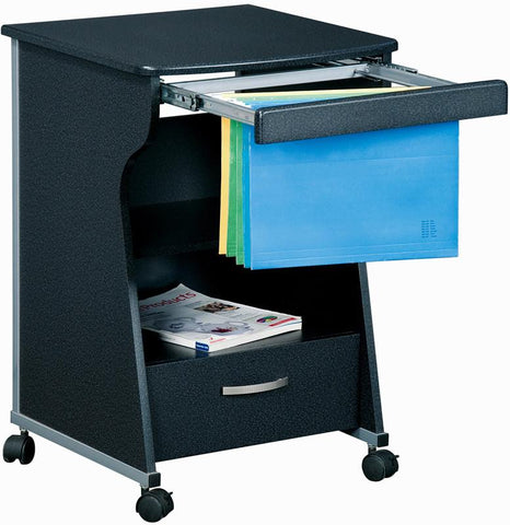 Techni Mobili RTA-S08-GPH06 Rolling File Cabinet. Color: Graphite - Peazz.com - 1