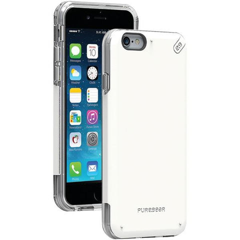 PureGear 10665VRP iPhone 6/6s DualTek PRO Case (White/Clear) - Peazz.com
