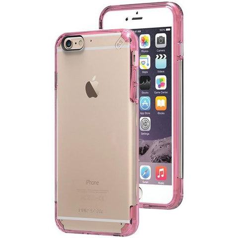 PureGear 11200VRP iPhone 6 Plus/6s Plus Slim Shell PRO Case (Clear/Pink) - Peazz.com