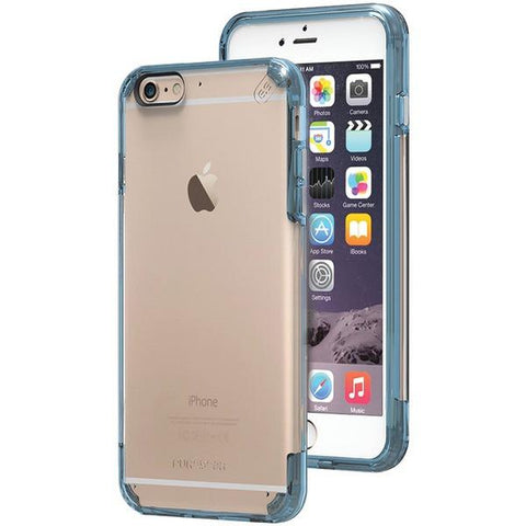 PureGear 11201VRP iPhone 6 Plus/6s Plus Slim Shell PRO Case (Clear/Blue) - Peazz.com