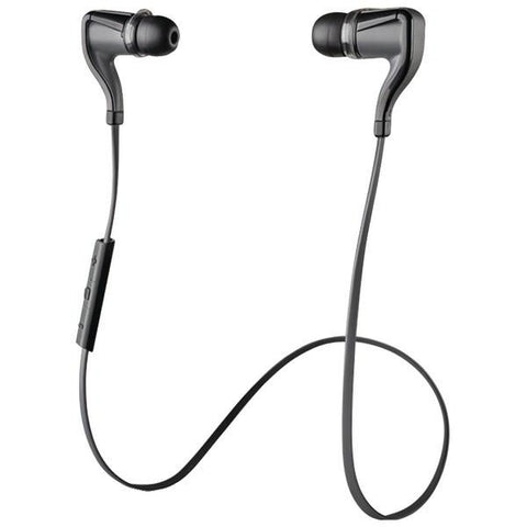 Plantronics 99890VRP BackBeat Go 2 Bluetooth Earbuds with Microphone & Charging Case (Black) - Peazz.com