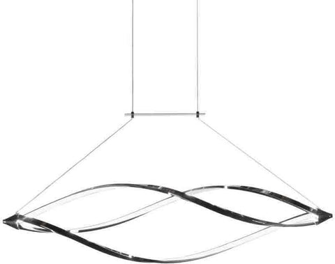 Dainolite SEL-43HP-PC LED Horizontal Pendant w/Swooped Arms