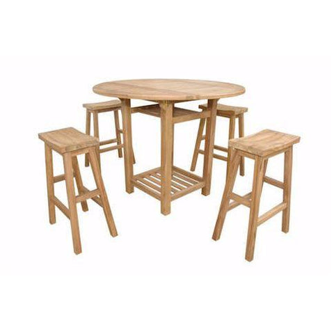 Anderson Teak SET-292 Seacrest Alpine I Counter Set - Peazz.com