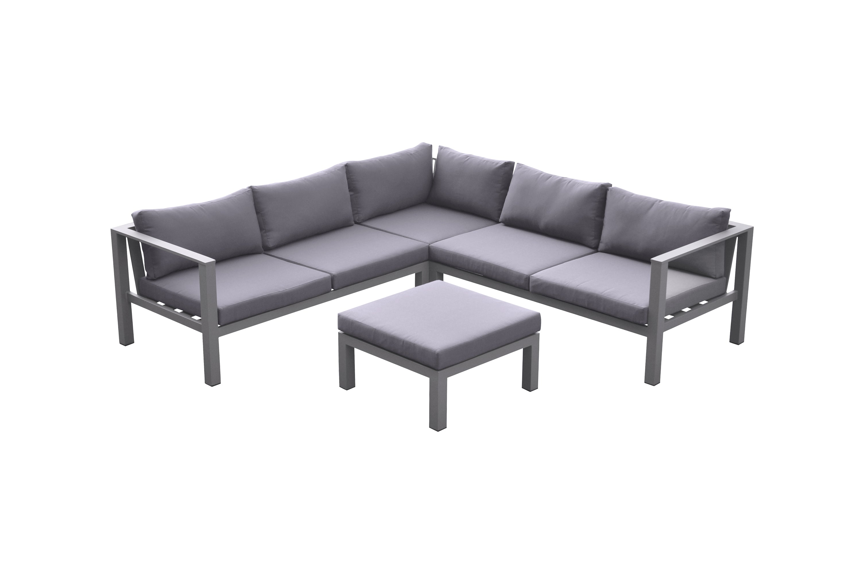 Armen Living Outdoor Patio Aluminum Sectional Cliff