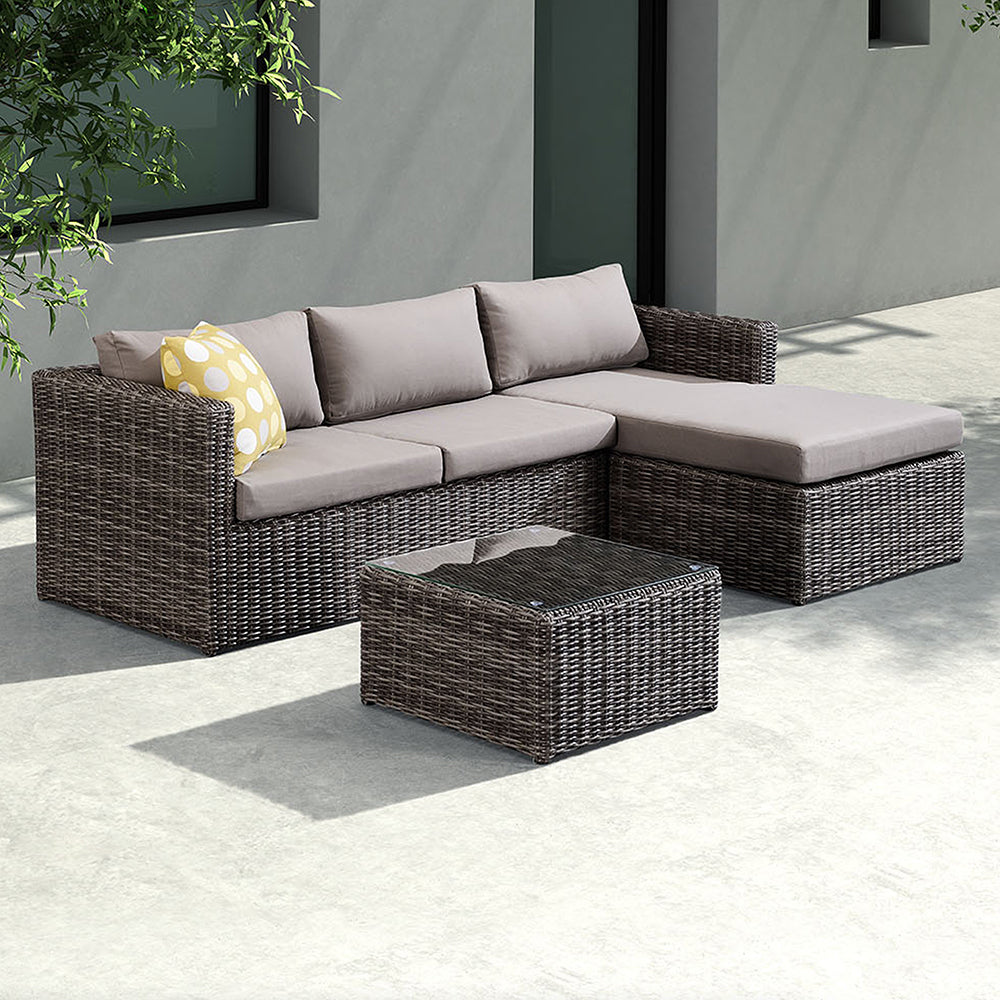 Outdoor Rattan Sectional Set Hagen