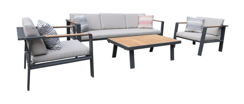 Armen Living SETODNOBE Nofi 4 piece Outdoor Patio Set