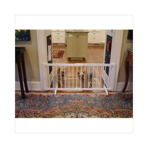 Cardinal Gates SG-1-WH Step Over Free Standing Pet Gate