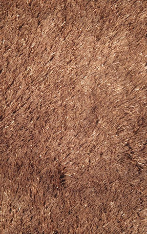 LA Rug SSC-67-5X73 Silky Shag Collection Brown - Peazz.com