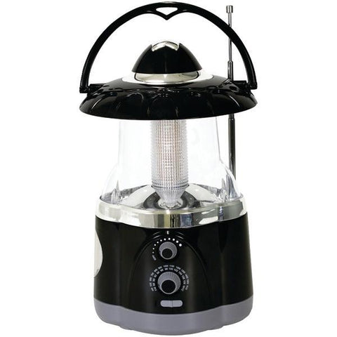 Northpoint 190507 12-LED Lantern with 4-LED Flashlight & AM/FM Radio (Black) - Peazz.com