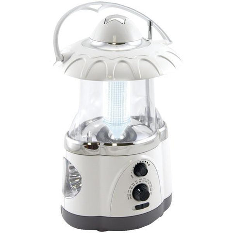 Northpoint 190475 12-LED Lantern with 4-LED Flashlight & AM/FM Radio (White) - Peazz.com