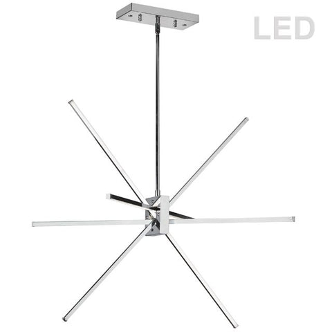 Dainolite SUM-34P-PC LED Pendant, Polished Chrome Finish