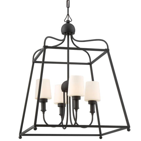 Libby Langdon for Crystorama Sylvan Outdoor 4 Light Chandelier