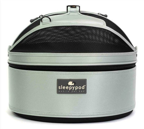 Sleepypod Mini SM-SIL Mobile Pet Bed (Glacier Silver) Small
