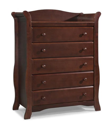 Storkcraft 03555-204 Avalon 5 Drawer Chest-Cherry - Peazz.com