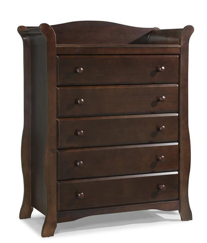 Storkcraft 03555-209 Avalon 5 Drawer Chest-Espresso - Peazz.com