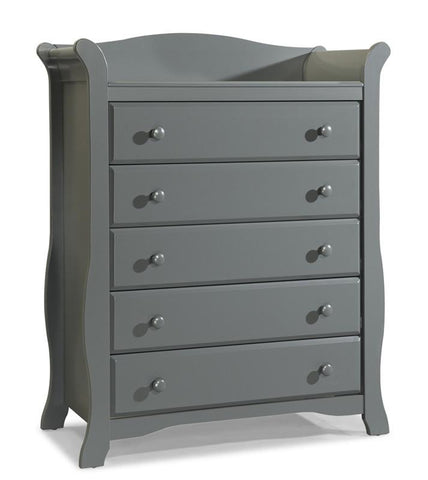 Storkcraft 03555-20G Avalon 5 Drawer Chest-Gray - Peazz.com